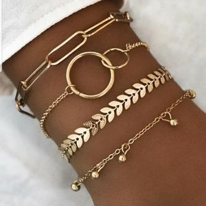 *Peaches* Gold Bracelet Set